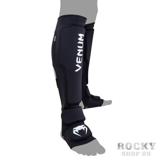 Детские щитки Venum Kontact Evo Shinguards - Black