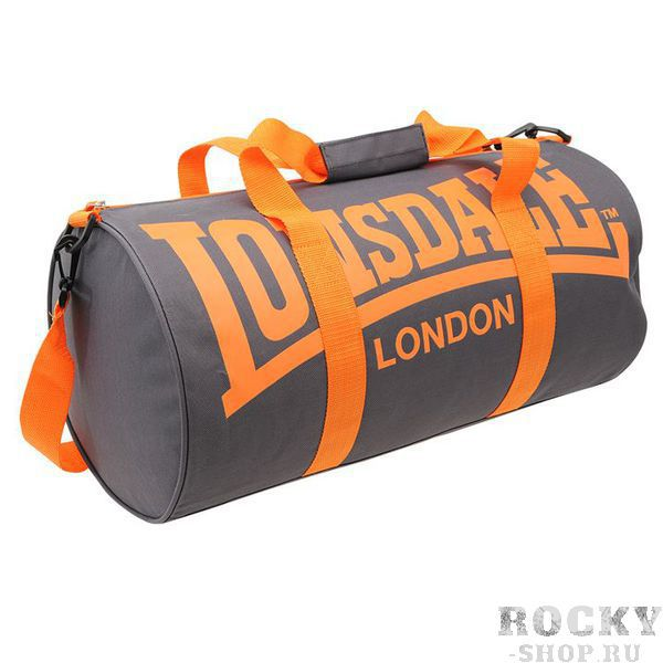 Спортивная сумка Lonsdale Barrel Grey Orange