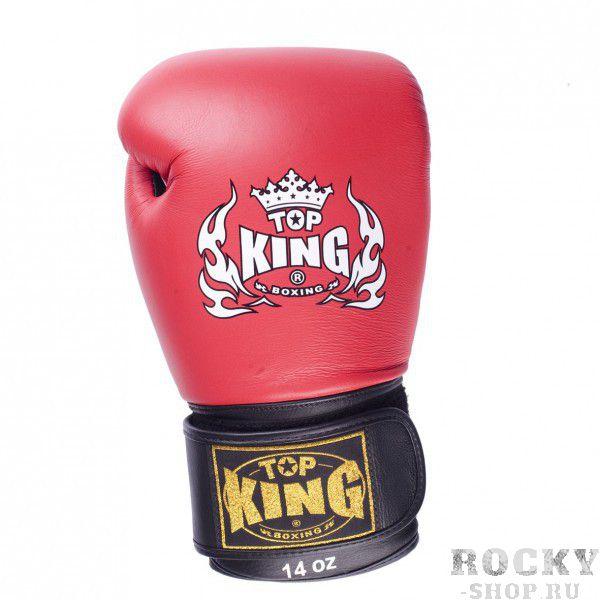 Боксерские перчатки Top King Ultimate, 18 OZ Top KingБоксерские перчатки<br>Перчатки для бокса Ultimate способны с большим успехом обеспечить высокий уровень безопасности, а также максимизировать комфорт вашим рукам, не прибегая к дополнительным мерам. Качество каждого элемента экипировки соблюдено в соответствии с передовыми стандартами: для верхнего покрытия и внутреннего подклада взяты самые надежные материалы, соединенные на основании утвержденного дизайна, стремящегося к приданию уверенности владельцу на ринге. Профессиональный характер боксерских перчаток удачно гармонирует с используемым цветовым решением.<br><br>Цвет: красный (черная липучка)