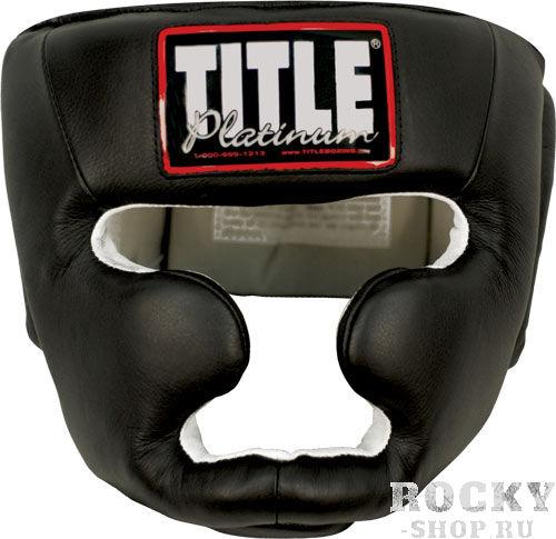 Боксерский шлем TITLE PLATINUM FULL FACE TRAINING HEADGEAR TITLEБоксерские шлемы<br>Получи свое Платиновое Преимущество в спарринге!Ультра тонкая, тщательно выделанная 100 % натуральная кожа гарантирует прочность. Крутая форма и внутренние материалы - шлем сидит на Вашей голове, как влитой. Полностью защищены подбородок и щеки. Размер регулируется липучкой сзади и эластичными ремнями на макушке. <br>Experience the Platinum advantage! <br><br>Extra thick cowhide leather offers added durability. Ultra plush and comfortable-fits your head like a glove. Inner liner is super soft and supple leather. Fully padded cheek and chin pads help provide increased coverage. Adjustable elastic top strap with hook-and-loop closure on back for quality fit<br><br>Размер: L
