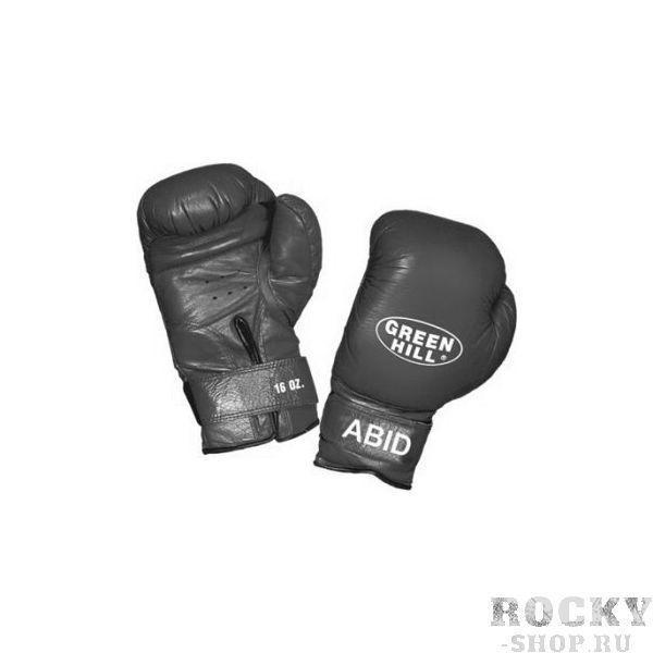 Перчатки боксерские abid, 10 унций Green HillБоксерские перчатки<br>Подходят  для детских и юношеских боксёрских школ<br> За  счёт сверхмягкого наполнителя фактически не наносят травм<br> Материал - 100% кожа<br> Смягчающая  вставка в районе запястья<br> Удобная  застёжка-липучка<br><br>Цвет: Черный
