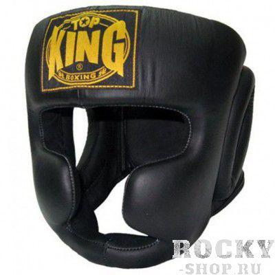 Тренировочный шлем Full Coverage, xl Top KingБоксерские шлемы<br>Шлем Top King Full Coverage — классический тренировочный шлем для боксеров от компании Top King. Полностью закрывает лицо и голову, что обеспечивает практически 100% защиту щек, подбородка, носа, ушей. Крепится шлем с помощью липучки сзади и шнуровки наверху. Изготовлен из натуральной воловьей кожи вручную. Сделано в Таиланде.<br>