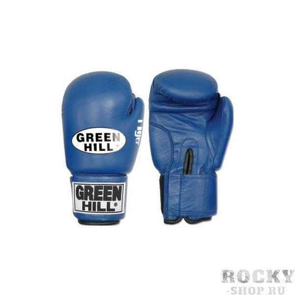Перчатки боксерские tiger, 8 унций Green HillБоксерские перчатки<br>Верх из 100% кожи<br> Внутреннее наполнение из сфомированного пенополиуретана<br> Манжет липучка<br><br>Цвет: Синий