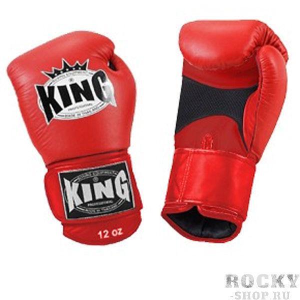 Перчатки боксерские тренировочные, липучка, 12 OZ KingБоксерские перчатки<br>Липучка на запястье<br> Улученный упругий материал<br> Материал - высококачественна кожа<br> «Дышащая кожа» держит руки в прохладе<br><br>Цвет: Красный