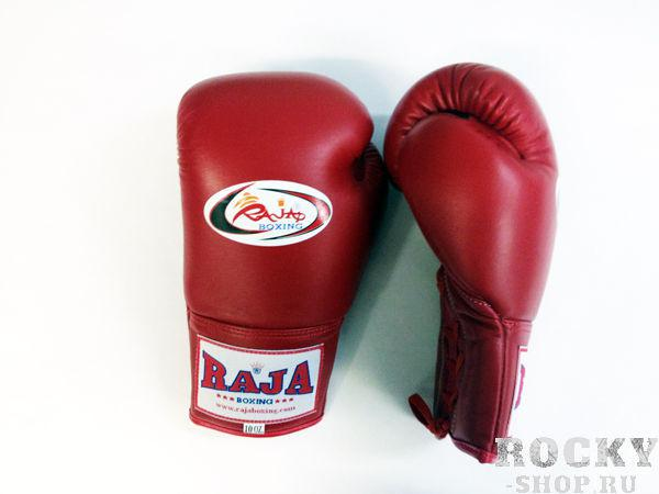 Перчатки боксерские соревновательные, шнурки, 8 унций RajaБоксерские перчатки<br>Профессиональные перчатки. <br> Предназначены для более начальных боев Муай Тай или интернациональных боев. <br> Перчатки безупречно годятся для учебы.<br><br>Цвет: красный