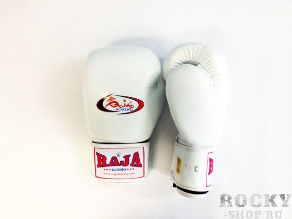Перчатки боксерские тренировочные, липучка, 10 унций RajaБоксерские перчатки<br>Профессиональные перчатки. <br> Предназначены для более начальных боев Муай Тай или интернациональных боев. <br> Перчатки безупречно годятся для учебы.<br><br>Цвет: белый