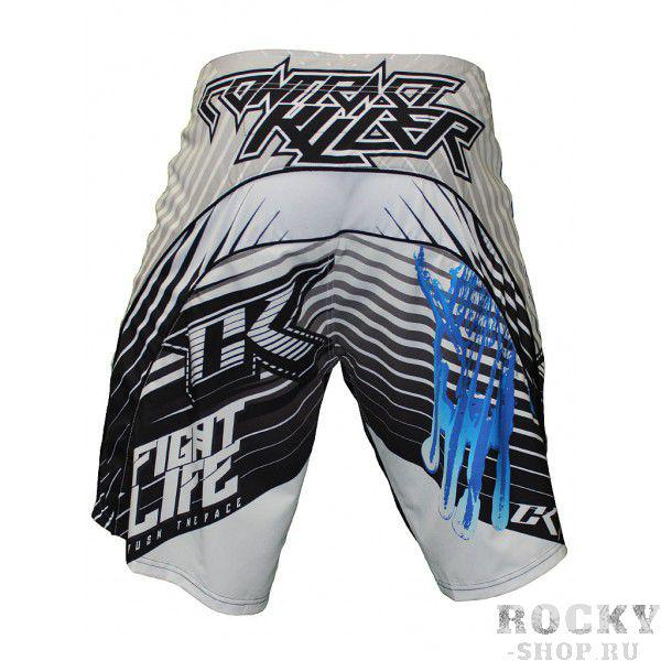 Шорты ММА Contract Killer Stained S2 Shorts - White/Blue