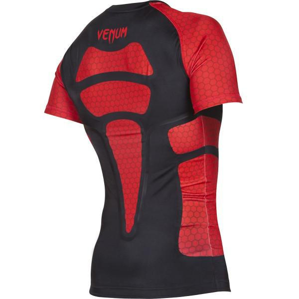 Рашгард Venum «Absolute» Compression T-Shirt - Black/Red Short Sleeves