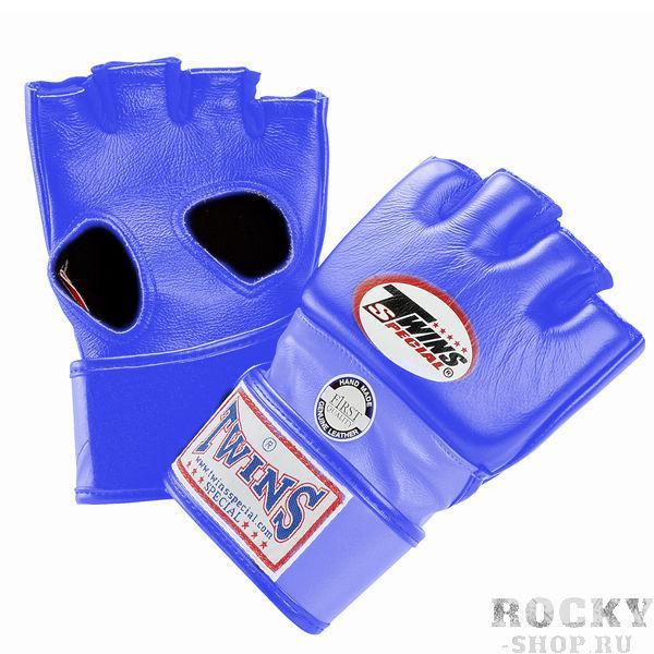 Перчатки ММА на липучке, Размер M Twins SpecialПерчатки MMA<br>Подходят для интернациональных соревнований MMA<br> Ручная работа<br> Натуральная кожа наивысшего качества<br> Наполнитель из плотной пены<br> Открытая ладонь<br><br>Цвет: Синий
