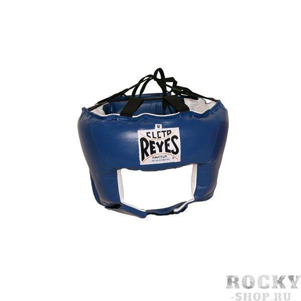 Шлем боксерский, соревновательный, Размер S Cleto ReyesБоксерские шлемы<br>Идеальная анатомическая форма<br> Ремешок и шнурки для лучшей регулировки<br> Мягкая подстежка в задней части головы<br> Отличный обзор<br> Материал - 100% кожа<br><br>Цвет: Синий