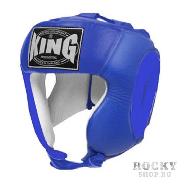 Шлем соревновательный, Размер S KingБоксерские шлемы<br>Полный охват головы (зашита)<br> Высококачественная кожа<br> Многослойный упругий материал<br> Широкое поле зрения<br><br>Цвет: Синий