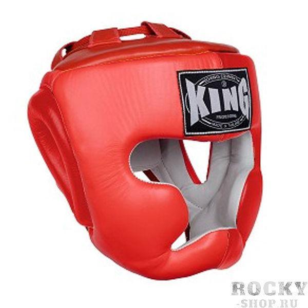 Шлем тренировочный, Размер L KingШлемы ММА<br>Полный охват головы (зашита)<br> Высококачественная кожа<br> Многослойный упругий материал<br> Широкое поле зрения<br><br>Цвет: Красный