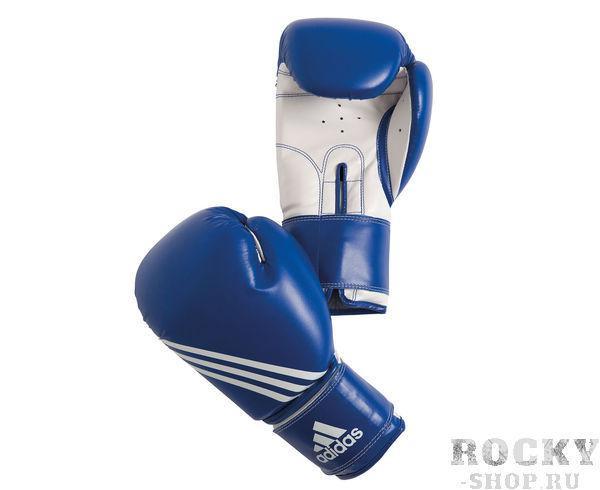 Перчатки боксерские Training, 8 унций AdidasБоксерские перчатки<br>Перчатки боксерские adidas Training бело-черныеПерчатки боксерские adidas Training сине-белые. Тренировочные боксерские перчатки на липучке. Полиуретан по технологии PU3G INNOVATION. Композитный литой вкладыш из пены высокого давления по технологии I-PROTECH. Усиленная защита большого пальца, ладони. Широкая, жесткая манжета.<br><br>Цвет: сине-белые