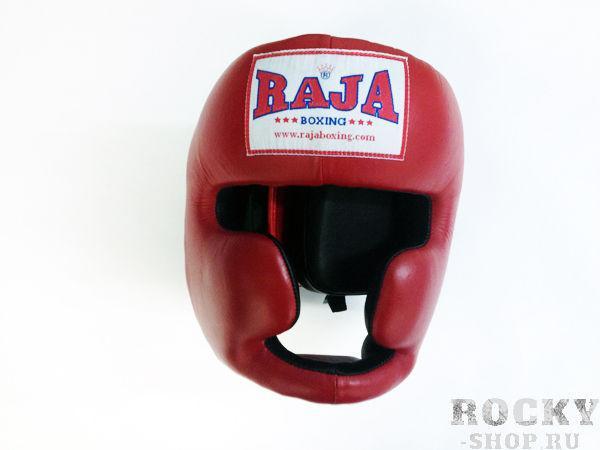 Боксёрский шлем тренировочный, Размер XL RajaШлемы ММА<br>Идеально годится для учебных целей<br> Отличная защита щек и подбородка<br><br>Цвет: красный
