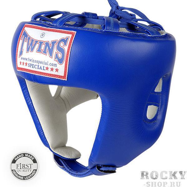 Боксерский шлем, соревновательный, Размер L Twins SpecialБоксерские шлемы<br>Защищает голову от травм<br> Застёжка-липучка на затылке гарантирует удобство при одевании и снятии шлема<br> Отличный обзор<br> Кожа топового качества<br> Ручная работа<br><br>Цвет: Синий