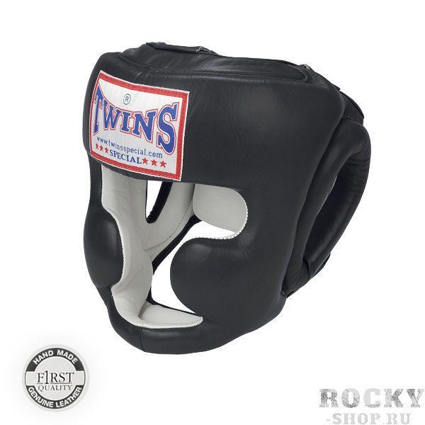 Боксерский шлем Twins Special HGL-6, Размер L Twins SpecialШлемы ММА<br>Защищает лицо от травм<br> Имеет конструкцию с защитой щёк<br> Застёжка-липучка на затылке гарантирует удобство при одевании и снятии шлема<br> Широкие эластичные резинки вместо стандартных шнурков<br> Отличный обзор<br> Кожа топового качества<br> Ручная работа<br><br>Цвет: Черный