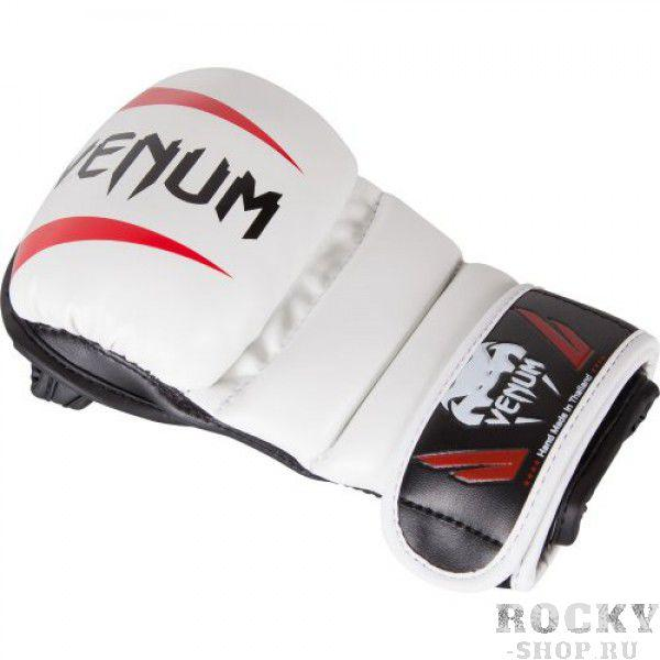 Перчатки ММА Venum Elite Sparring Ice/Black/Red