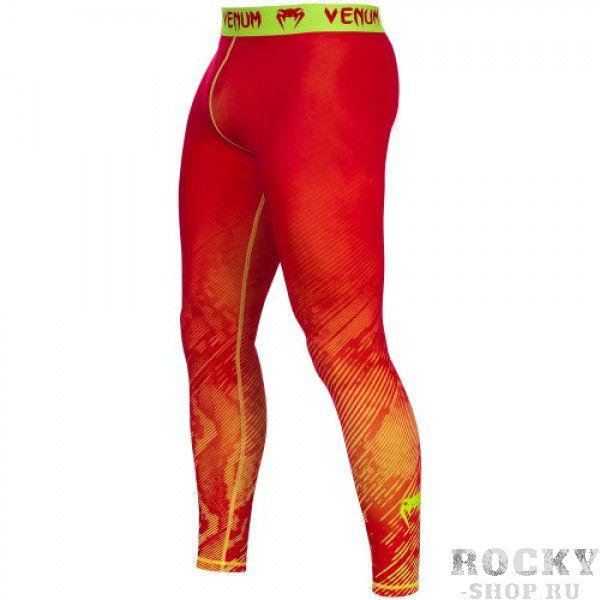 Компрессионные штаны Venum «Fusion» Compression Spats - Orange Yellow