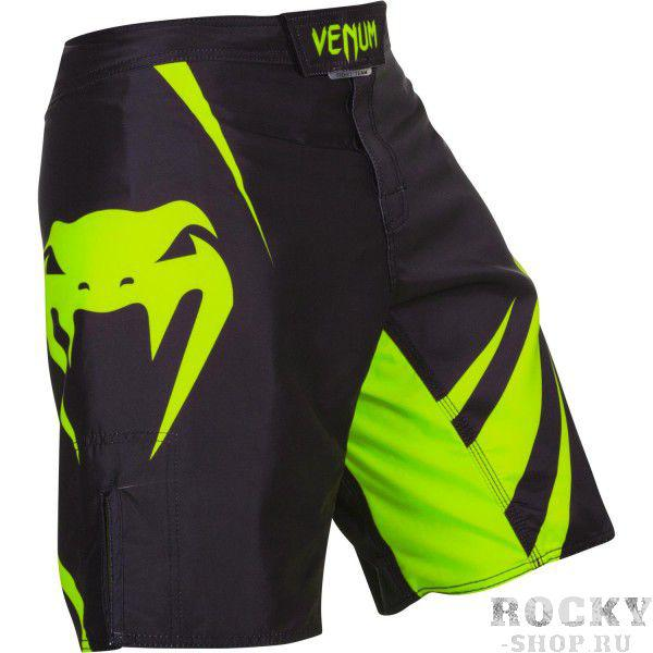 Шорты ММА Venum «Challenger» Fightshorts - Black/Neo Yellow