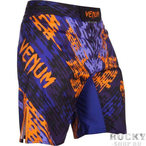 Шорты ММА Venum «Neo Camo» Fightshorts Blue/Orange/Black
