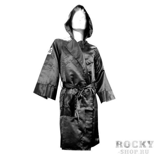 Боксерский халат, Размер L Cleto ReyesБоксерские халаты<br>Широкие рукава<br> В наборе пояс<br> Логотипы CLETO REYES на груди и рукавах<br> Широкий капюшон<br> Стильный и брутальный дизайн<br> Материал - сатин<br><br>Цвет: Чёрный