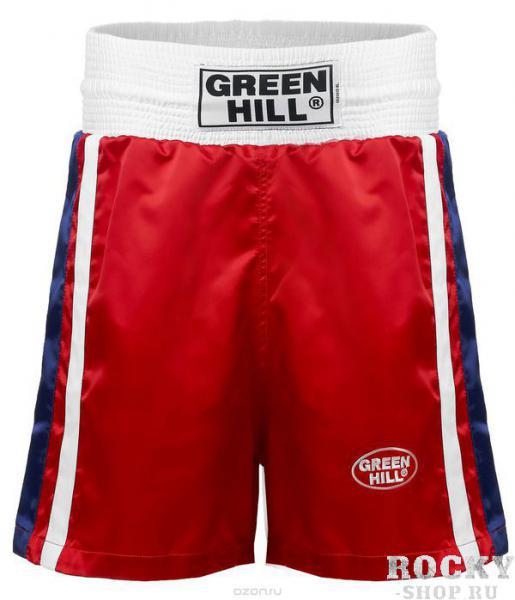 Трусы боксёрские OLIMPIC, Красный Green HillШорты для бокса<br>Трусы для занятий боксом, а так же для соревнований на самом высоком уровне. <br> Эргономичный крой<br> 100% полиэстер<br> Приятный дизайн<br> Подходят для соревнований на самом высоком уровне<br><br>Цвет: XL