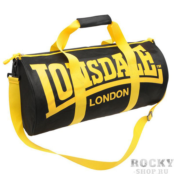 Спортивная сумка Lonsdale Barrel Black Yellow