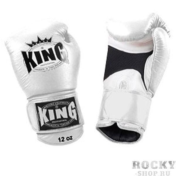 Перчатки боксерские тренировочные, липучка, 16 OZ KingБоксерские перчатки<br>Липучка на запястье<br> Улученный упругий материал<br> Материал - высококачественна кожа<br> «Дышащая кожа» держит руки в прохладе<br><br>Цвет: Белый