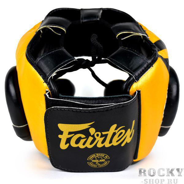 Боксерский шлем Fairtex Full Face Yellow/Black