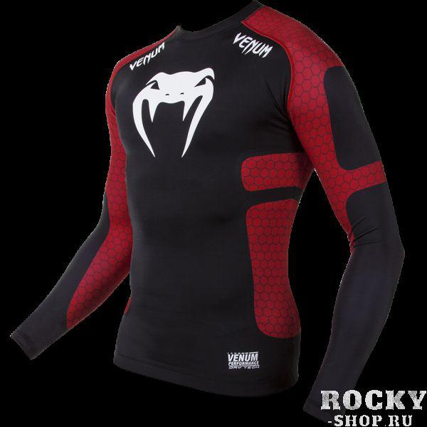 "Рашгард Venum ""Absolute"" Compression T-Shirt - Black/Red - Long Sleeves"
