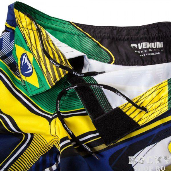 Шорты ММА Venum Brazilian Hero Fight Shorts - Yellow/Blue/Green