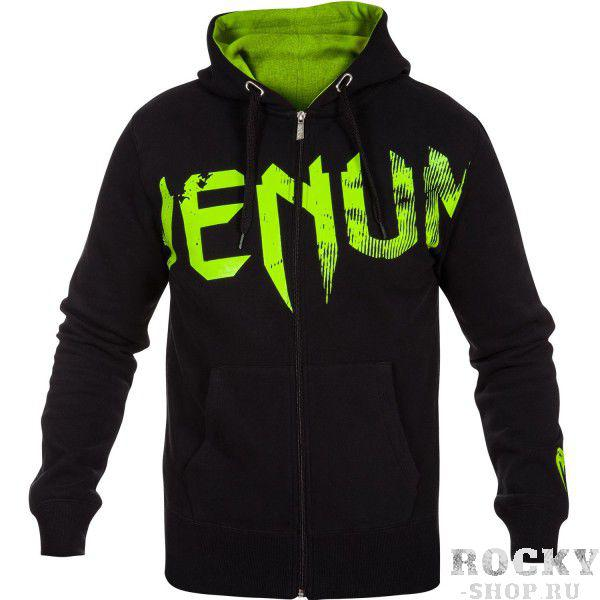 Толстовка Venum «Undisputed» Hoody Black - Neo Yellow Logo