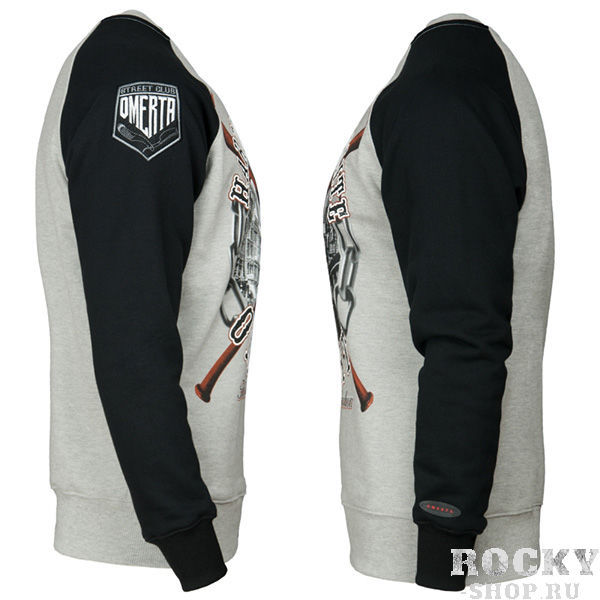 Толстовка Extreme Hobby Omerta Hardcore Elite Grey Black