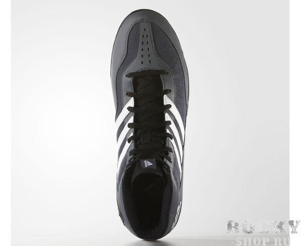 b6da9d1b8ddd36 Борцовки Mat Wizard.3 Adidas серо-белые (арт. 9145) - купить в ...