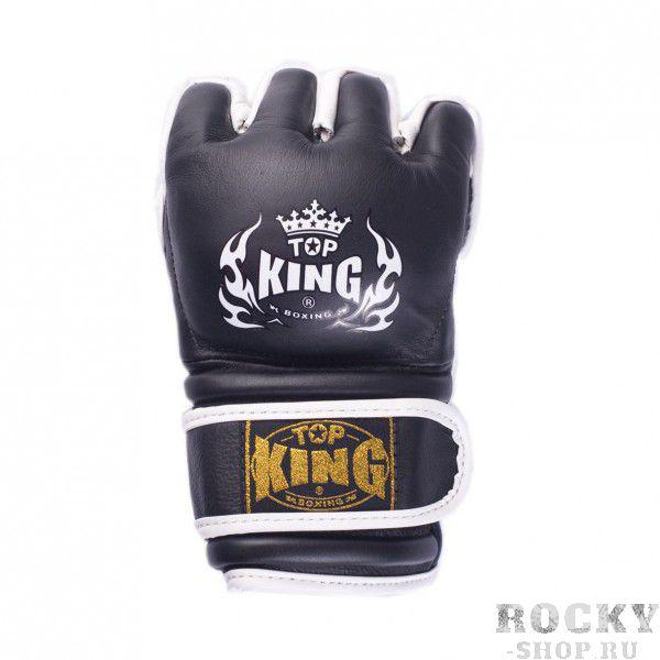 Перчатки для MMA Top King Extream, l Top KingПерчатки MMA<br>Перчатки для смешанных единоборств Top King Extream наполнены многослойной пеной, которая обеспечивает надежную защиту кистей рук при занятиях единоборствами. Используя эти перчатки, вы сможете полностью продемонстрировать всю технику захвата благодаря открытым пальцам и ладони. Большой же палец защищен от вывихов и ушибов, так как он закрыт. Двойные ремни-липучки позволяют надежно зафиксировать перчатку на руке спортсмена. Благодаря дополнительным вставкам около запястья и на ударной поверхности вероятность получения травмы снижается до минимума. Перчатки производятся в Таиланде из натуральной кожи.<br>