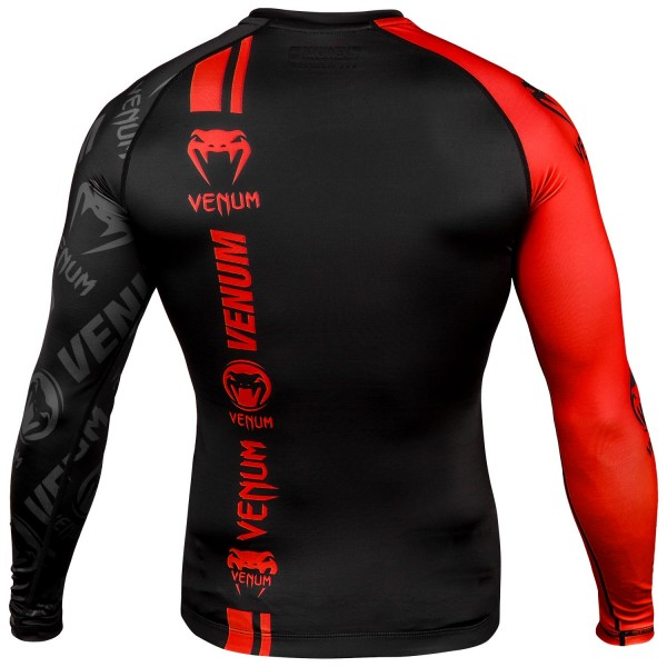 Рашгард Venum Logos Black/Red L/S