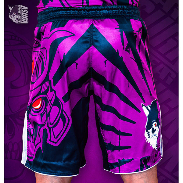 Шорты AsurA MMA Immortal Warrior Purple