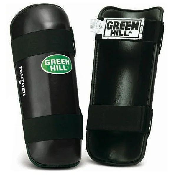 Защита голени PANTHER, размер XXL, XL Green HillЗащита тела<br>Материал: Искусственная кожаВиды спорта: Кикбоксинг, Таэквондо, КаратэДлина 36см,ширина 14см, толщина защитной подушки 4см. Защита выполнена из искусственной кожи<br>