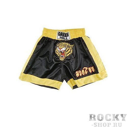 Купить Шорты для тайского бокса tiger, черные Green Hill черный (арт. 10033)
