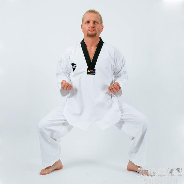 Кимоно Taekwondo WTF New China ultralight fabric, без пояса, Белый Green HillЭкипировка для Тхэквондо<br>Материал: ХлопокВиды спорта: ТаэквондоКимоно Taekwondo New China ultralight fabric, без пояса белое Одобрено WTF<br><br>Размер: 150см
