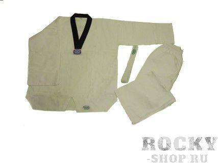 Кимоно Taekwondo CHEAP, Белый Green HillЭкипировка для Тхэквондо<br>Материал: ХлопокВиды спорта: ТаэквондоКимоно Taekwondo CHEAP. Начальное кимоно (добок) для тхэквандо<br><br>Размер: 2/150