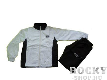 Детский спортивный костюм/белый с черным/ , Белый Green HillСпортивные костюмы<br>Спортивный костюм. материал: полиэстер.<br><br>Размер INT: 8 лет