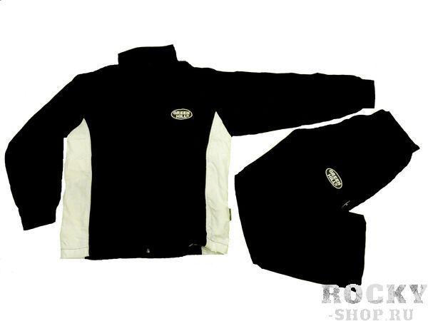 Детский спортивный костюм/черный с белым/, Черный Green HillСпортивные костюмы<br>Спортивный костюм. материал: полиэстер.<br><br>Размер INT: 12 лет