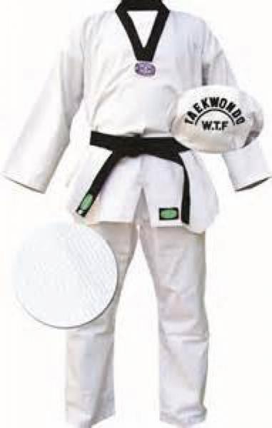 Кимоно Taekwondo CLUB белое, 5/180 Green HillЭкипировка для Тхэквондо<br>Материал: ХлопокВиды спорта: ТаэквондоКимоно для тхэквондо. Материал 100%хлопок, с поясом.<br><br>Цвет: Белый