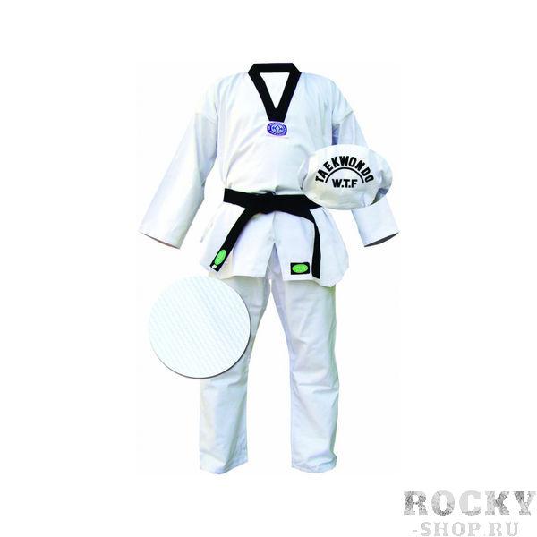 Кимоно Taekwondo CLUB белое, 4/170 Green HillЭкипировка для Тхэквондо<br>Материал: ХлопокВиды спорта: ТаэквондоКимоно для тхэквондо. Материал 100%хлопок, с поясом.<br><br>Цвет: Белый