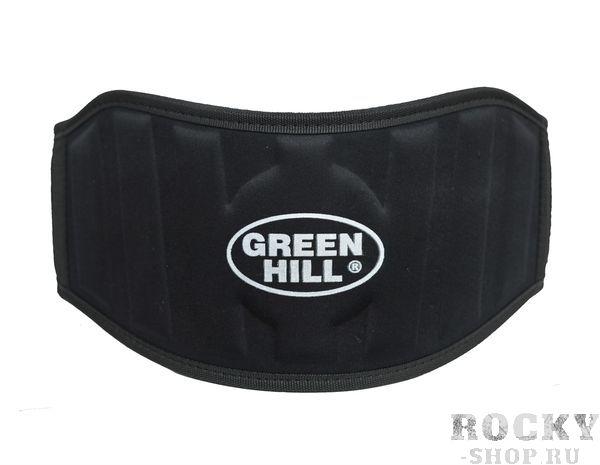 Пояс тяжелоатлетический, Черный Green HillПояса атлетические<br>Тяжелоатлетический пояс Green Hill, сделан из тканого материала, имеет жесткую вставку и застежку на широкой липучке, благодаря которой быстро одевается и снимается. Хорошо сидит и держит спину, недорогая альтернатива кожаному поясу.Тяжелоатлетический(силовой) пояс Green Hill предназначен для выполнения силовых упражней, таких как: сгибание рук со штангой, жим лежа, жим ногами и так далее. Затянутый пояс способствует сдерживанию внутрибрюшного давления во время силовой тренировки с большими весами, препятствует образованию межпозвонковой грыжи и других травм, вследствие высокого внутрибрюшного давления. Длина: S (90 см), M (100 см), L (110 см), XL (115 см), XXL (120 см)Ширина: 13 см.<br>