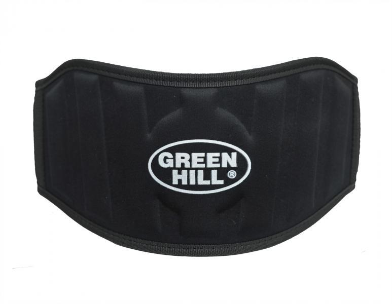 Пояс тяжелоатлетический, Черный Green HillПояса атлетические<br>Тяжелоатлетический пояс Green Hill, сделан из тканого материала, имеет жесткую вставку и застежку на широкой липучке, благодаря которой быстро одевается и снимается. Хорошо сидит и держит спину, недорогая альтернатива кожаному поясу. Пояс производится в нескольких вариантах расцветок: красный, синий, черный. Тяжелоатлетический(силовой) пояс Green Hill предназначен для выполнения силовых упражней, таких как: сгибание рук со штангой, жим лежа, жим ногами и так далее. Затянутый пояс способствует сдерживанию внутрибрюшного давления во время силовой тренировки с большими весами, препятствует образованию межпозвонковой грыжи и других травм, вследствие высокого внутрибрюшного давления.<br><br>Размер: L