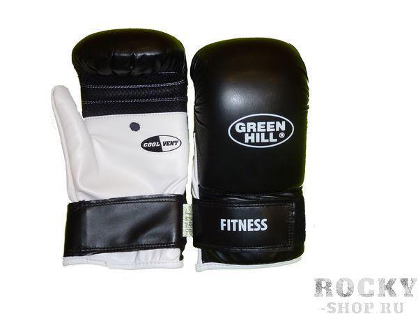 Купить Перчатки снарядные fitness Green Hill черный/белый (арт. 10128)