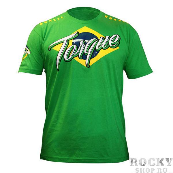 Футболка Torque Team Brazil TorqueФутболки / Майки / Поло<br>Футболка Torque Team BrazilСтильная футболка из легкого «дышащего» хлопка идеально подойдет для тренировок в зале и на свежем воздухе. А рисунок с бразильским флагом (родиной официального пришествия смешанных единоборств) определит вашу любовь и принадлежность к ММА!Принт с высоким качеством печати не сотрется после множества стирок. Футболка Torque Team Brazil станет отличным атрибутом в вашем гардеробе!  Состав: 100% хлопок.<br>