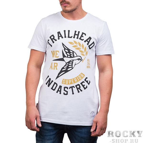 Футболка Trailhead Logo White TrailheadФутболки / Майки / Поло<br>Футболка Trailhead Logo White Отличная модель для любителей классики от питерского бренда. Плотный хлопок убережет футболку от износа и она всегда будет выглядить как новая. Яркий дизайн и, уже узнаваемый, логотип бренда - подчеркнут вашу индивидуальность.Состав:хлопок – 100%.<br>